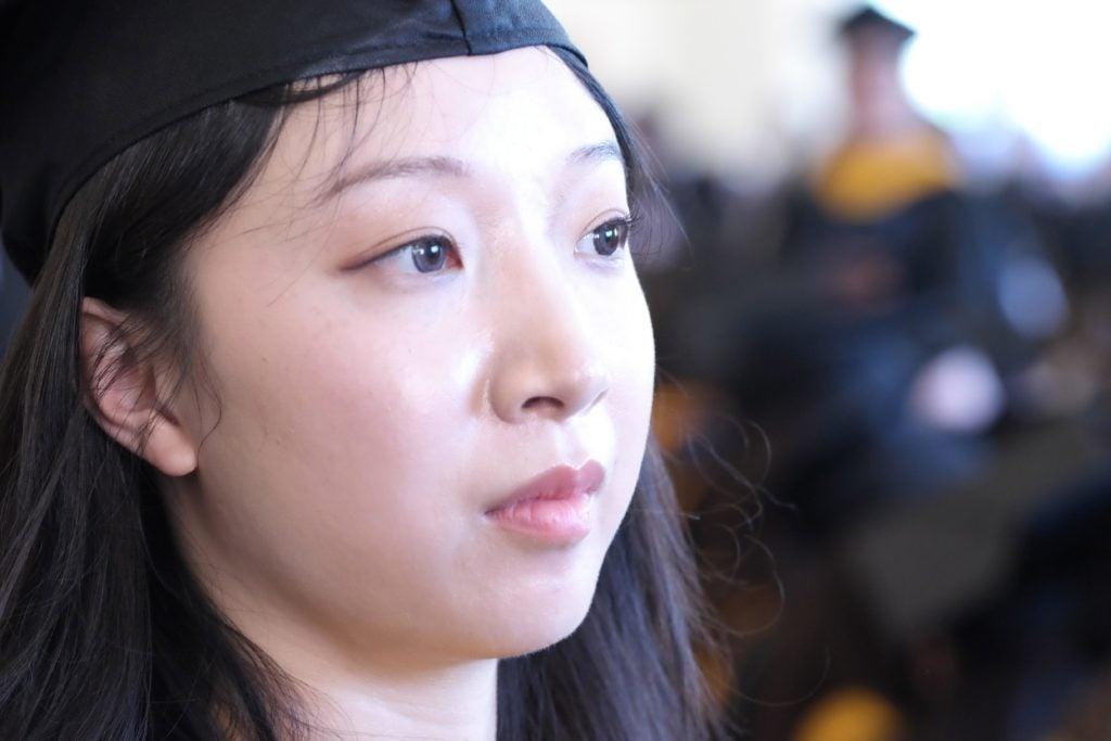 A Graduating Data Analytics Student at the 2017 May Graduation
